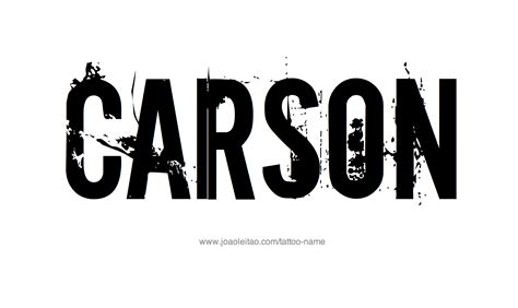 carson name tattoo designs