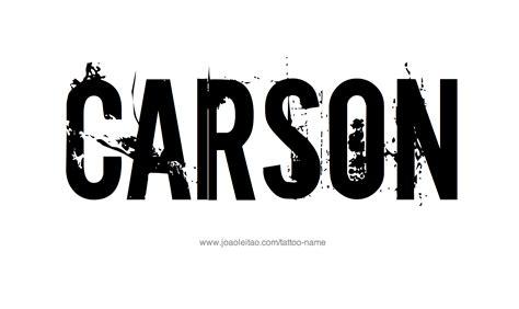carson name tattoo designs