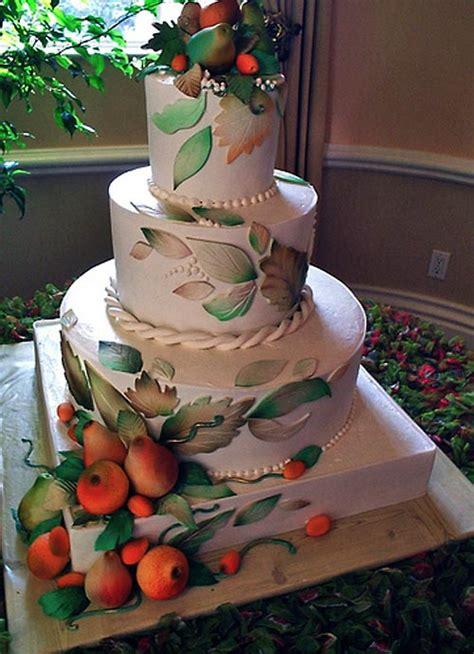 Simple Autumn Wedding Cake by Fall Autumn Wedding Cake Designs