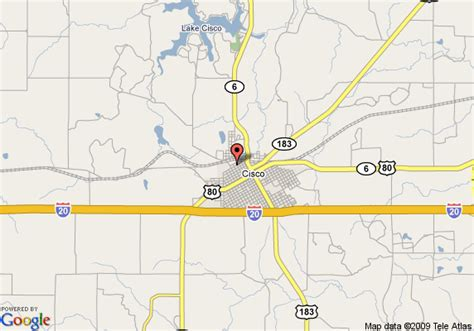 cisco texas map map of knights inn cisco cisco