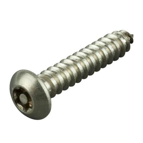 crown bolt 10 x 1 2 in stainless button torx sheet