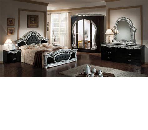 silver bedroom furniture sets dreamfurniture com rococo italian classic black silver