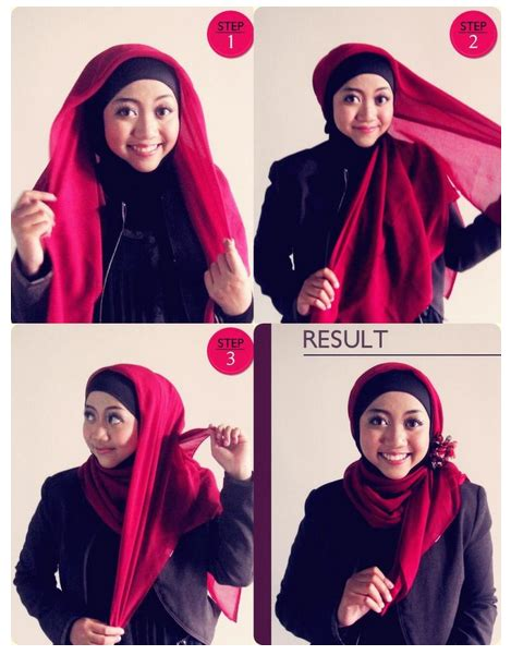 tutorial sanggul modern wajah bulat tutorial hijab modern untuk wajah bulat