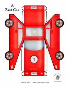 race car template printable creative ideas for you free paper toys