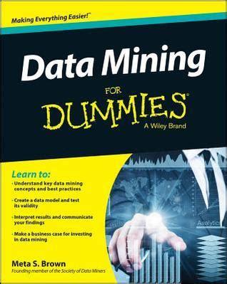 data mining  dummies  meta  brown