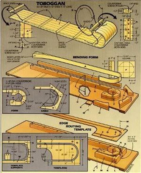 sle blueprints 9 free snow sled plans it s all downhill from here