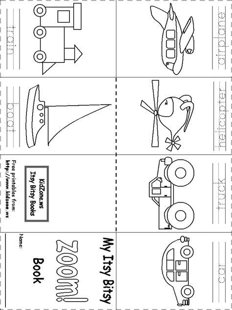 kindergarten activities on transportation itsy bitsy book zoom transportation pinteres