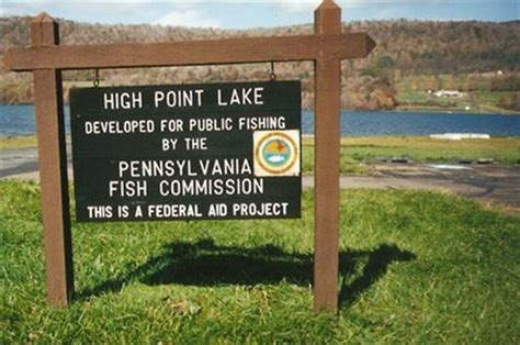pa fish and boat access points high point lake salisbury pennsylvania public access
