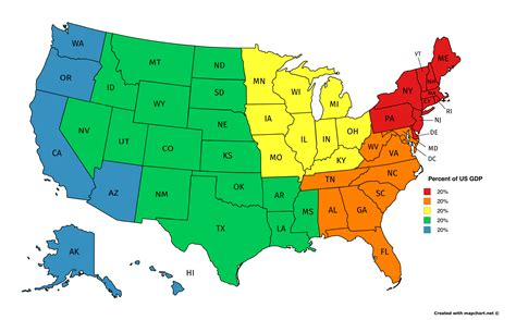 map of the 5 regions of the united states 5 regions in the usa with equal made with mapchart net