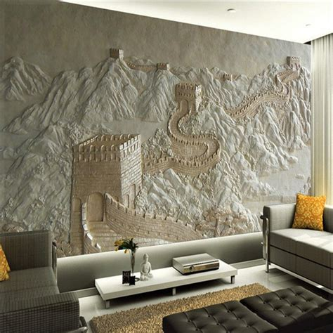 Great Wall Style 3d wall murals wallpaper great wall landscape for living room bedroom koyle papel de parede