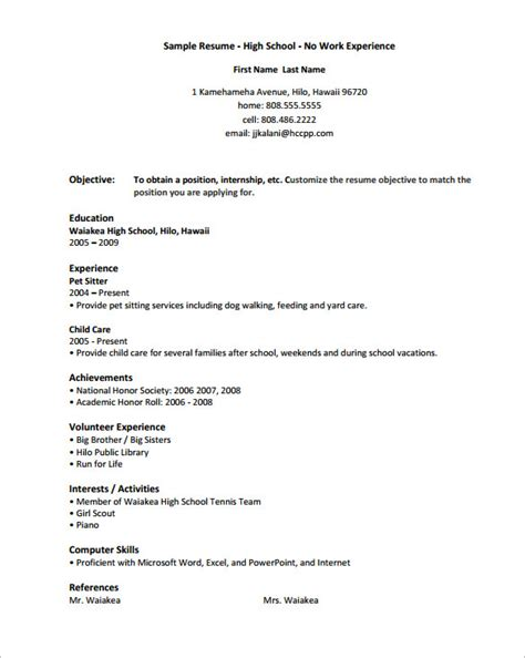 highschool resume template 10 high school resume templates free sles exles