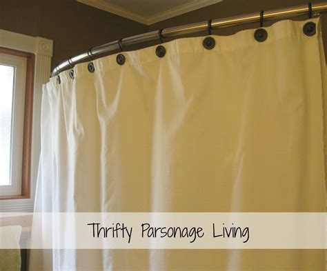 shower curtains for small showers thrifty parsonage living bathroom makeover painting