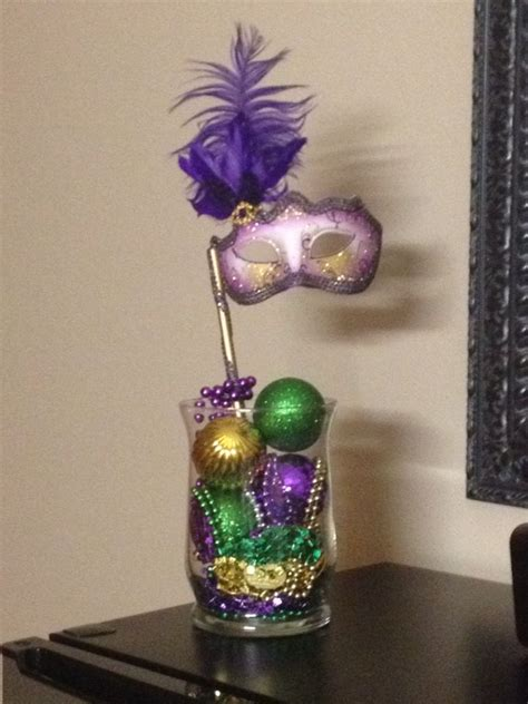 diy mardi gras table centerpiece i made this for my mom