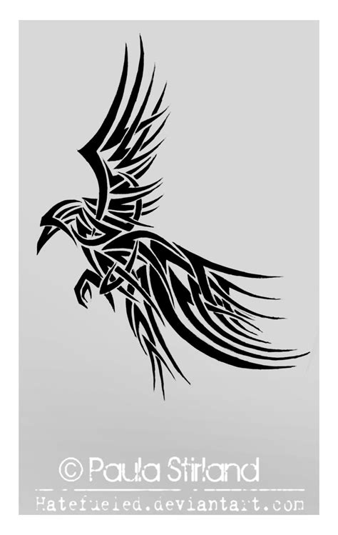 raven tribal tattoo design ideas on