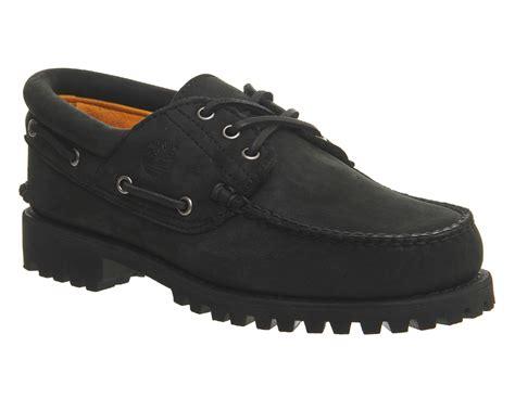 black boat shoes timberland 3 eye classic lug boat shoes black nubuck casual