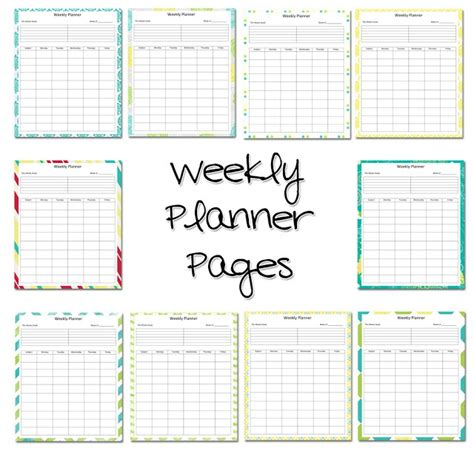 printable weekly activity planner weekly lesson planner free printable labels more