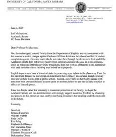 letter to michaelson from english department at ucsb