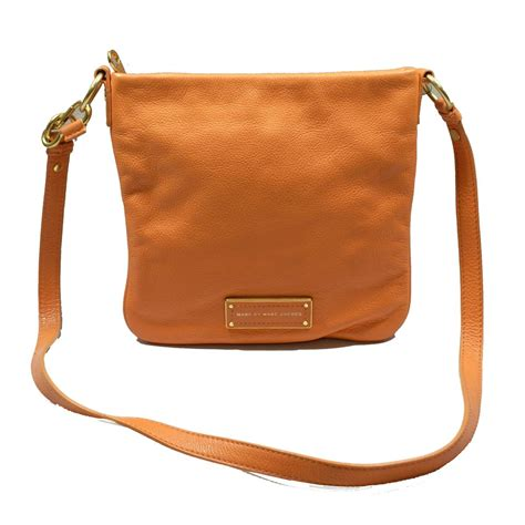 sack swing marc by marc jacobs saffron leather crossbody swing bag