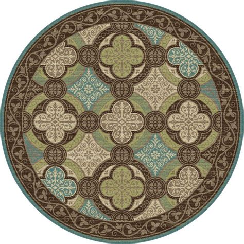 5 foot rug tayse rugs brown 5 ft 3 in transitional area rug cpr1005 6rnd the home depot