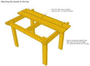 Wood patio table plans table plans pdf download
