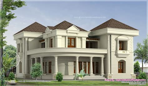 houses design bungalow 5 bedroom luxurious bungalow floor plan and 3d view kerala home design and floor plans