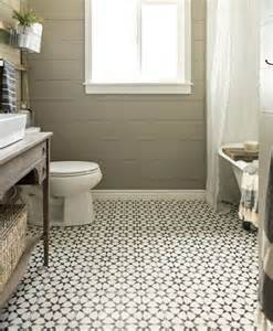 Vintage bathroom tile flooring