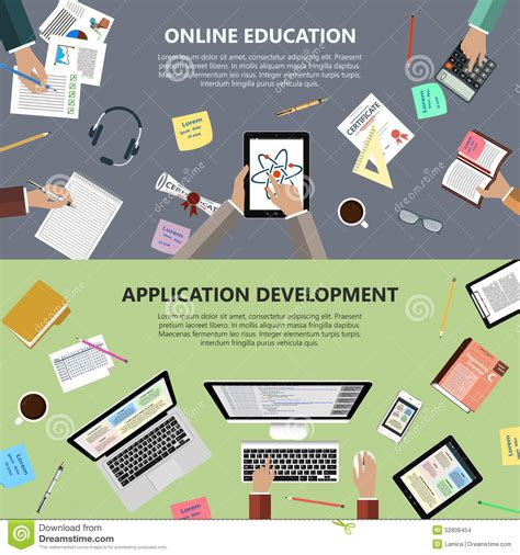 app design qualifications online education and app development concept stock photo