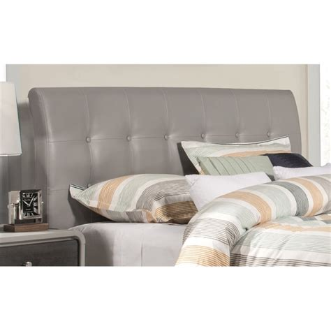 hillsdale lusso faux leather upholstered queen panel
