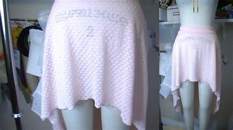 diy knit skirt diy high low hem skirt for knits easy