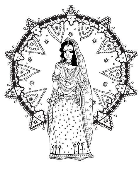 indian bride coloring page coloring india bollywood from the gallery coloring book