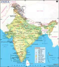 map cities only india map free large images