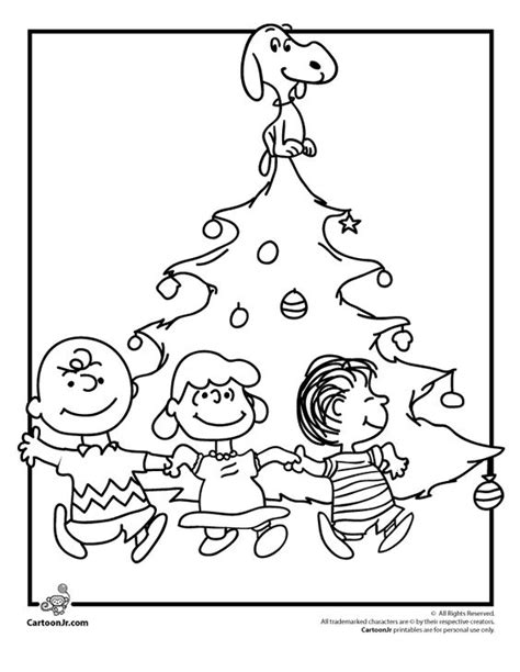 Charlie Brown Christmas Tree Charlie Brown Christmas And Brown Tree Coloring Page