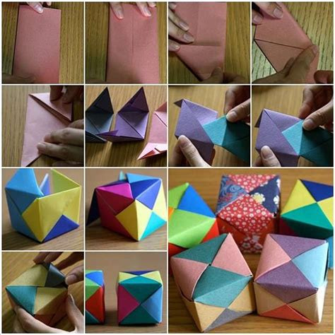 How To Make Paper Cubes - these origami cubes are extremely creative and a to make