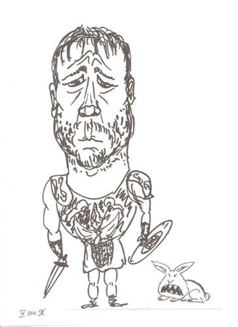 film gladiator cartoon russell crowe by tristanactor famous people cartoon