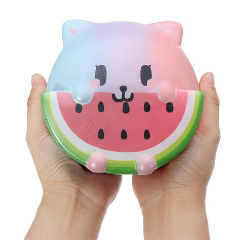 Lovely Cat By Taburasa Squishy leilei huang squishy lovely cat watermelon jumbo