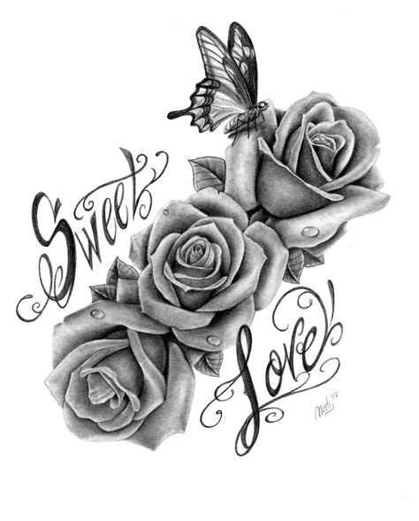 tattoo art roses sweet by nataliarey deviantart on deviantart