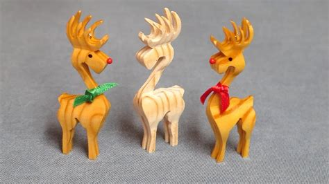 3d scroll saw christmas ornament patterns free 3d reindeer ornament compound cuts on the scroll saw