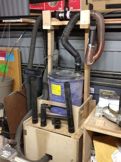 cabinet shop dust collection systems shop vac dust collection system by adhdan lumberjocks