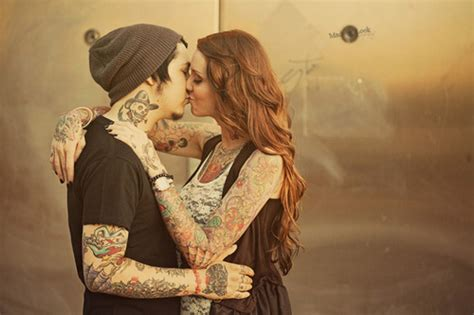 tattoo hot kiss boy girl kiss love tattoo image 323114 on favim com