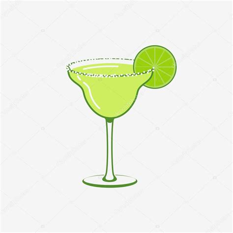 margarita illustration summer margarita cocktail vector logo concept stock