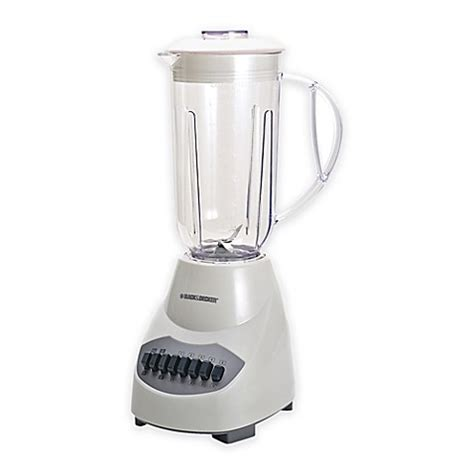bed bath beyond blender black decker 10 speed 6 cup blender in white bed bath
