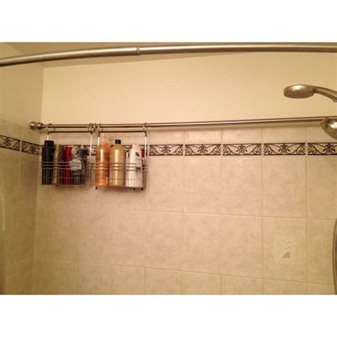 bathroom caddy ideas curtain rods shower storage and storage on pinterest