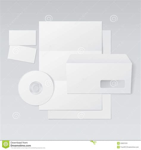 Business Card Envelope Template Vector by Blank Letter Envelope Business Cards And Cd Royalty Free