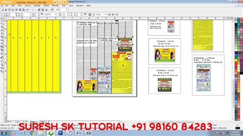 newspaper layout in coreldraw how to create newspaper ad size with column and news paper
