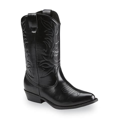route 66 boy s clay black cowboy boot shoes baby