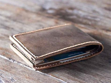 Handmade Leather Mens Wallets - handmade leather wallet best groomsmen gifts gifts for