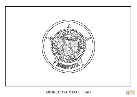 Minnesota State Flag Coloring Page Coloring Home State Flag Coloring Pages