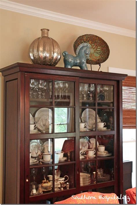 China Cabinet Decor by Living Room Makeover On A Budget