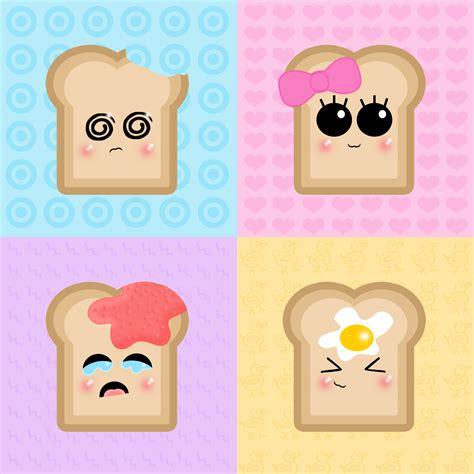 imagenes de tostadas kawaii śmieszne full hd tapeta and tło 2000x2000 id 10744