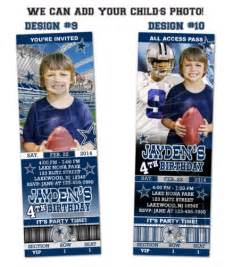 dallas cowboys ticket birthday invitations printable blitzdesignz digital on artfire
